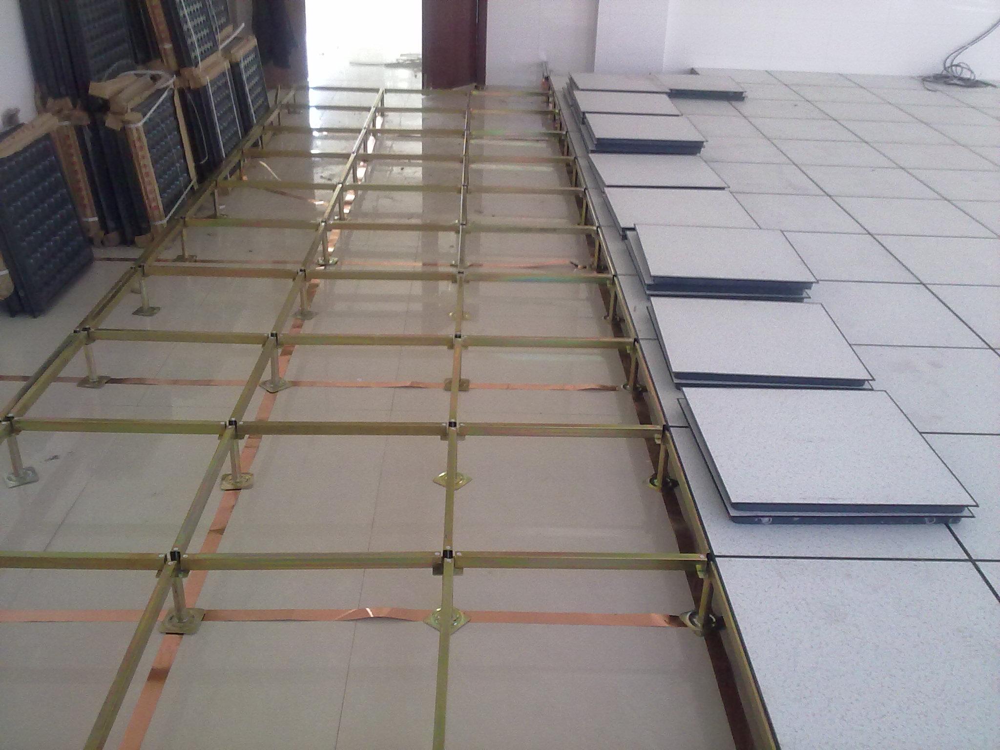 架空支架防静电地板铜箔